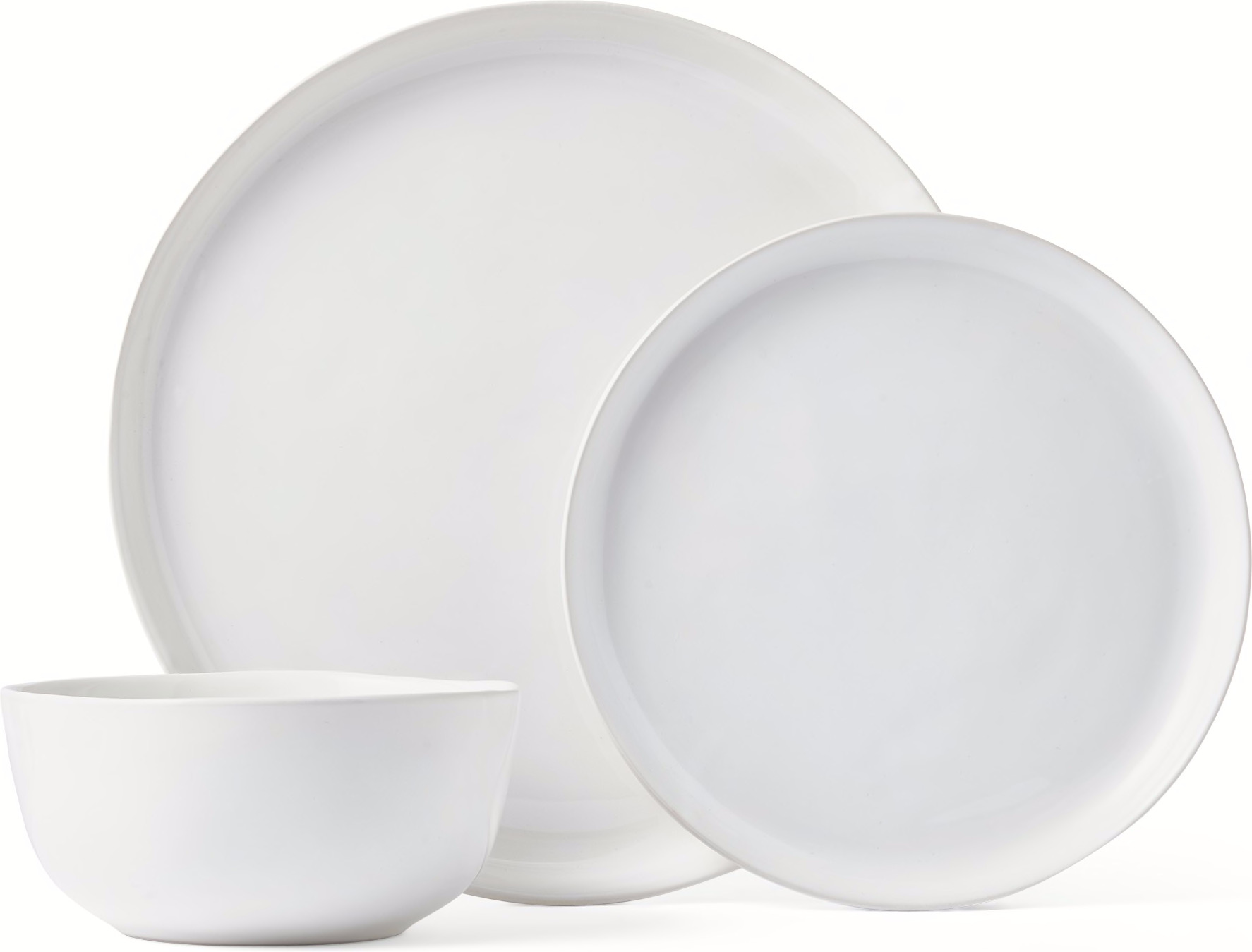 Kobe Set of 12 Dinnerware Set Earthenware White