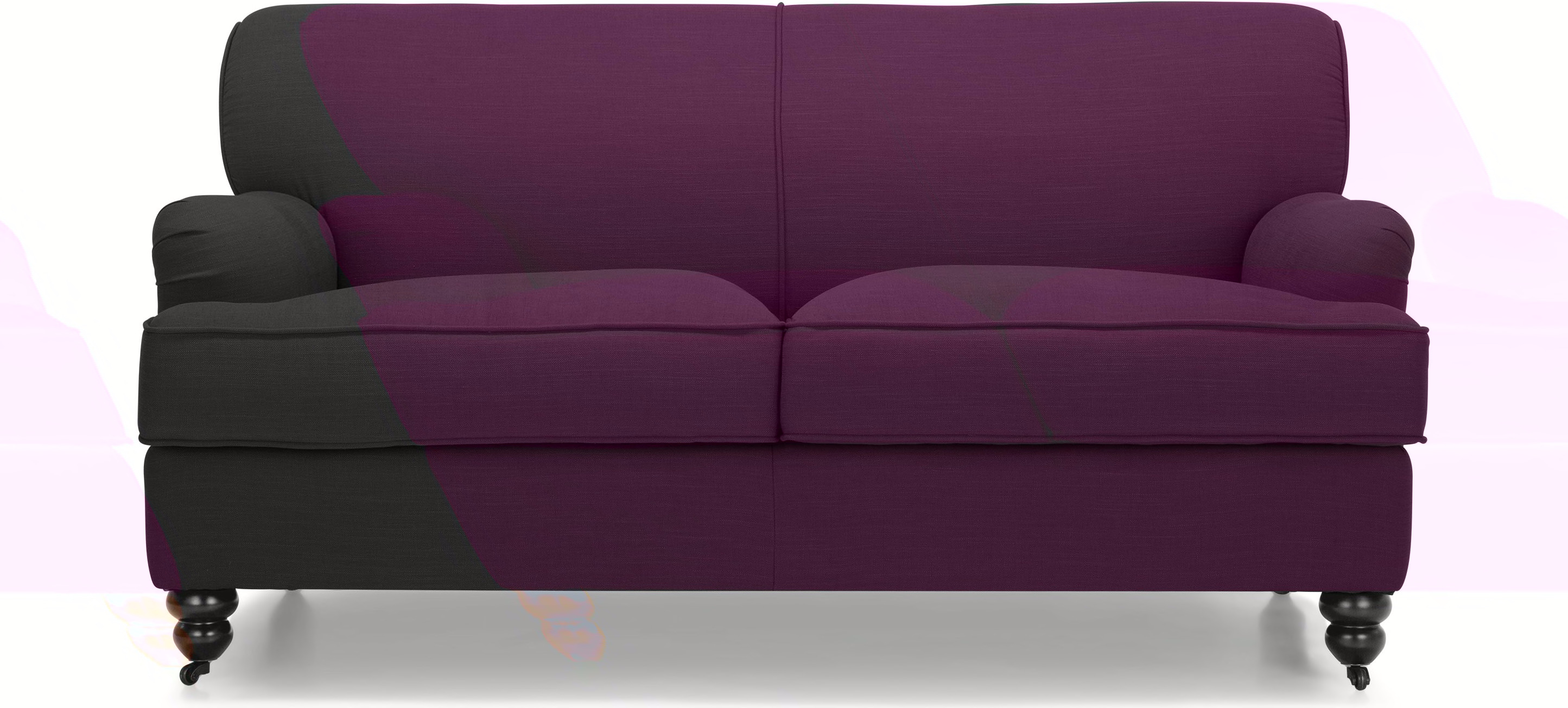 Orson 2 seater sofa, Pansy Purple