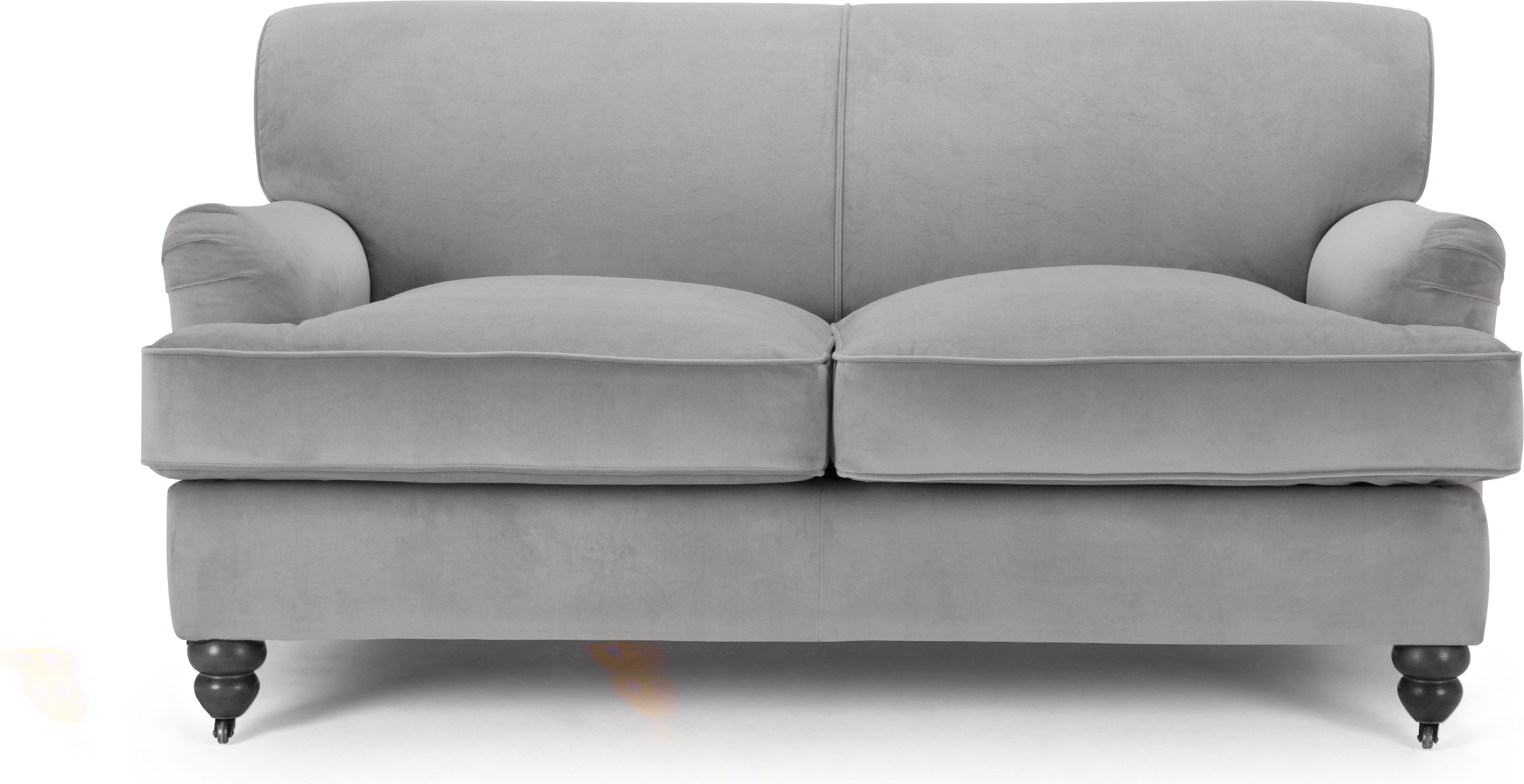 Orson 2 Seater Sofa, Granite Velvet