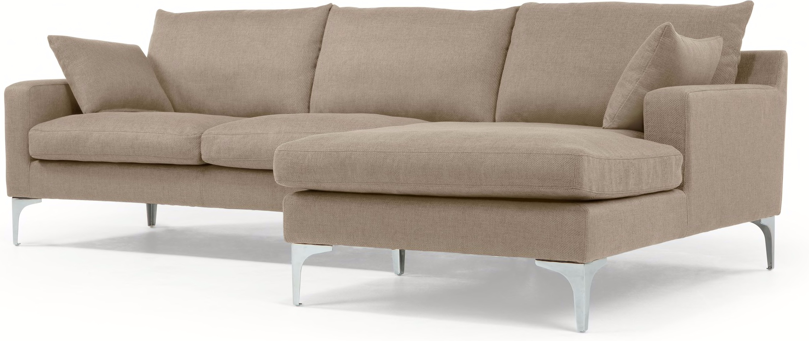 Mendini Right Hand Facing Corner Sofa Group Soft Taupe