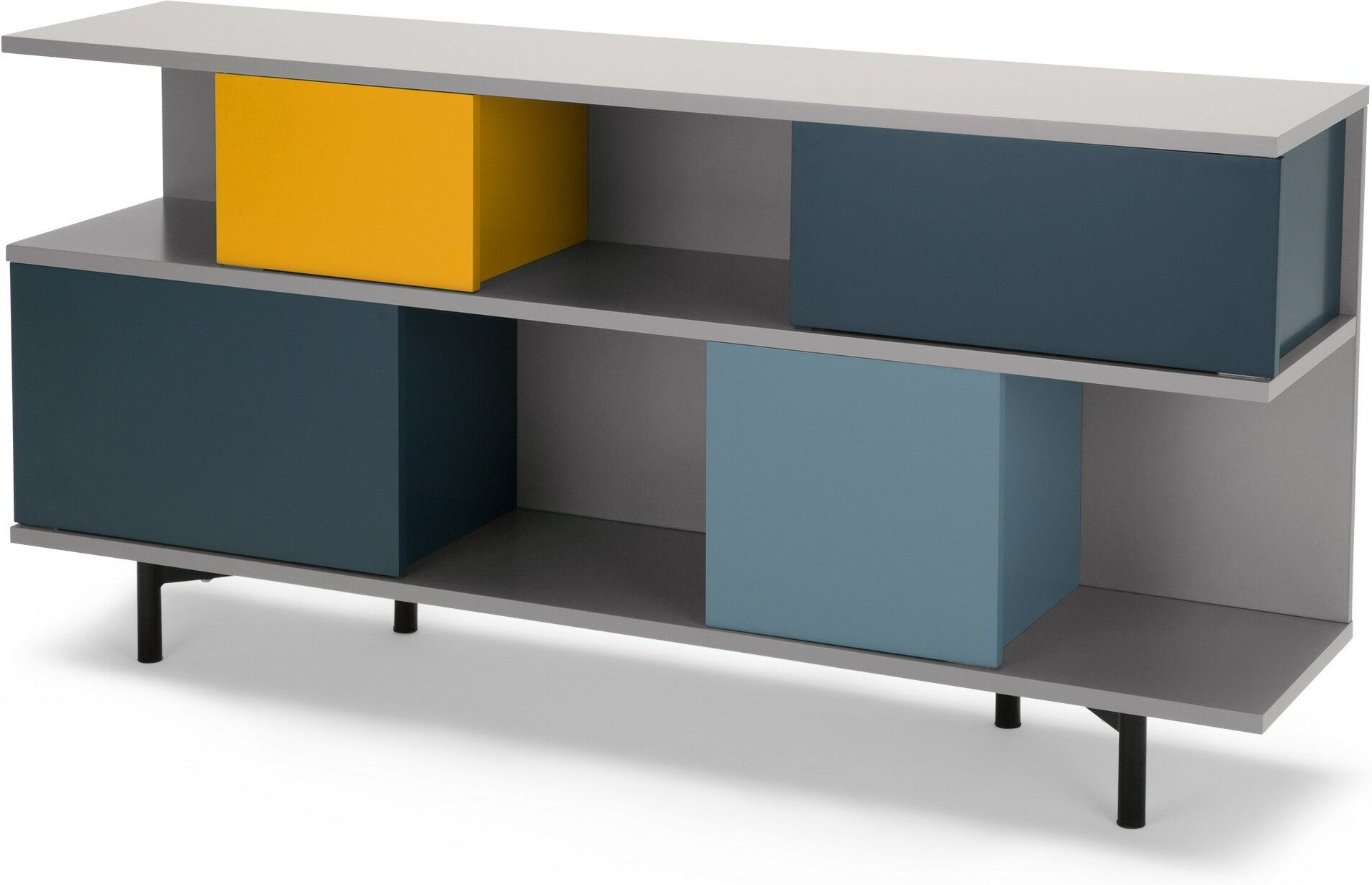Fowler Low Shelving Unit, Multicolour