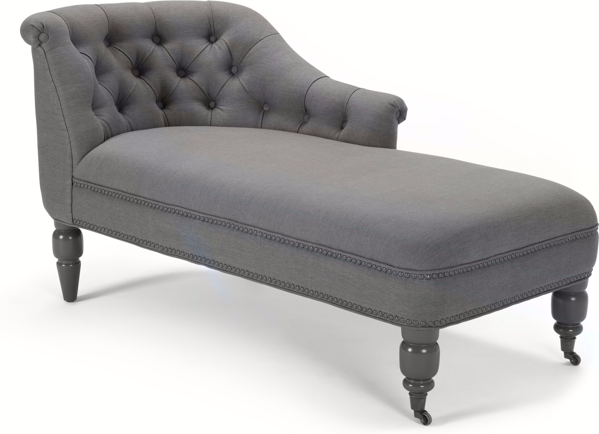 Bouji Right Hand Facing Chaise, Graphite Grey and Slate