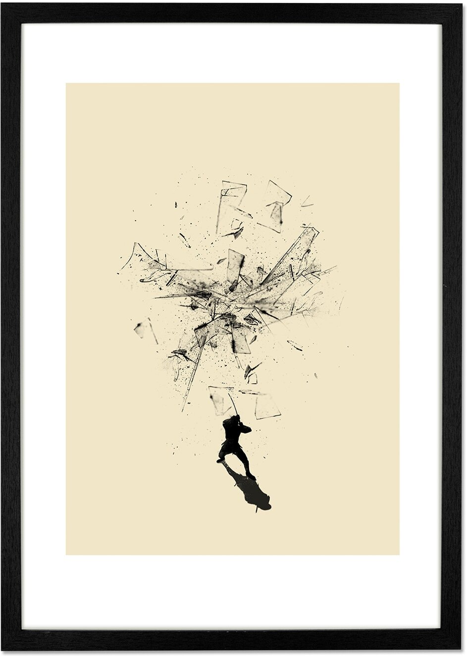 Ninja Moves by Nicebleed, 42 x 59cm (A2) Framed Print