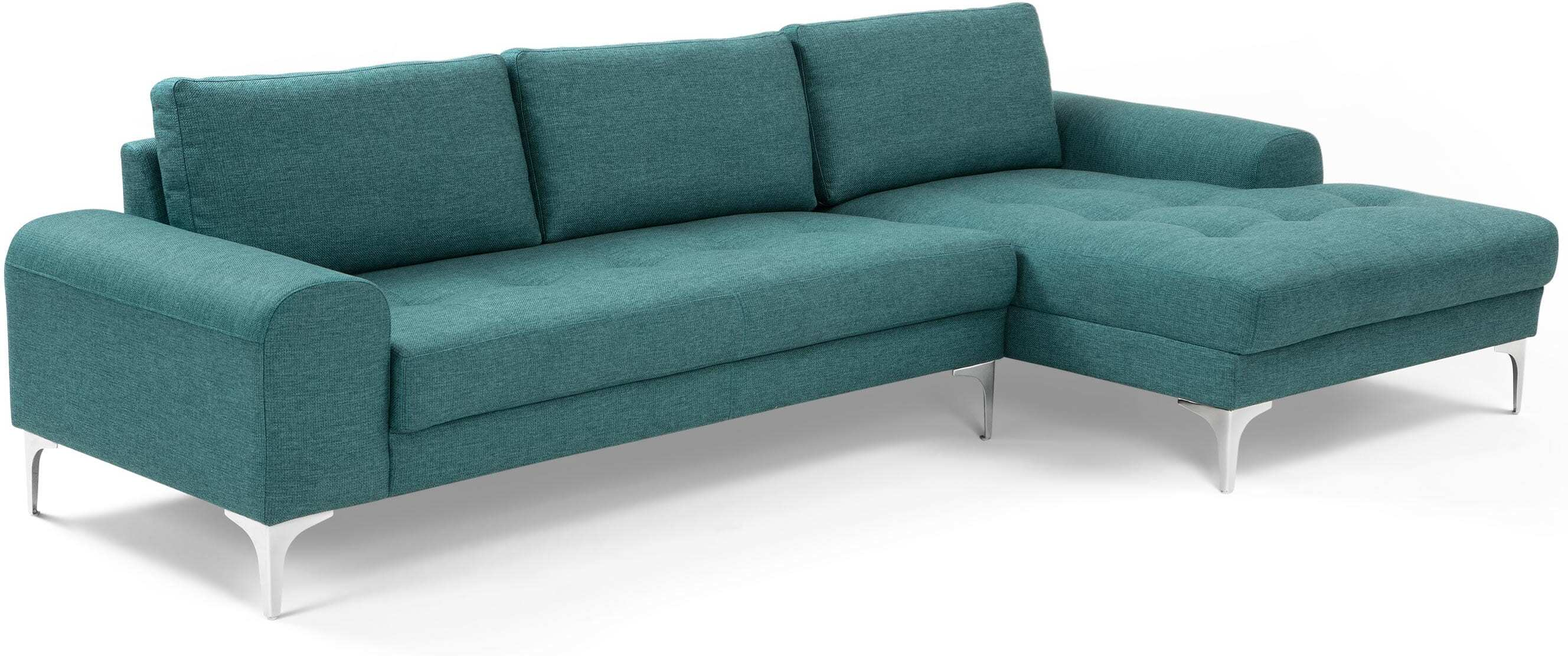 Vittorio Right Hand Facing Corner Sofa Group Teal