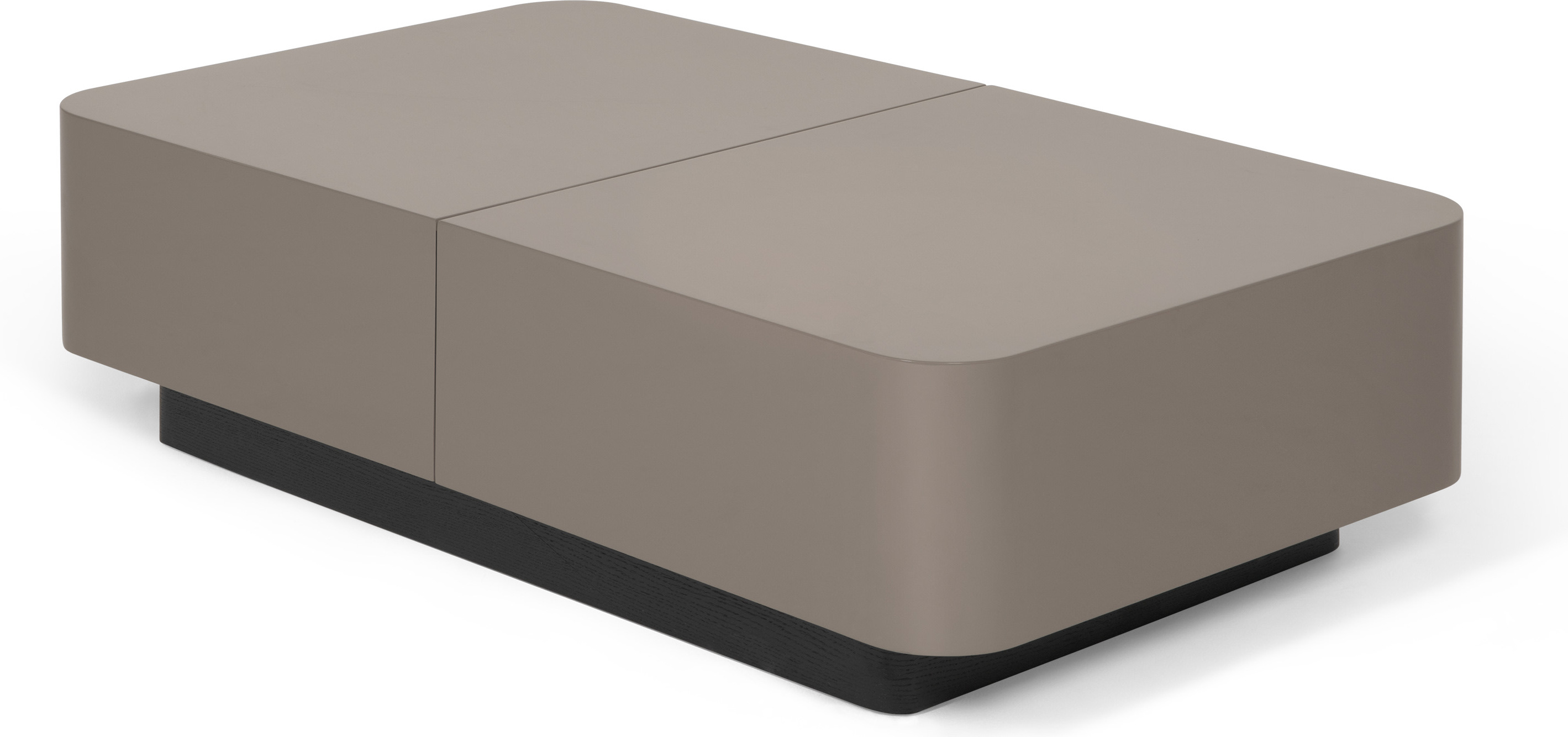 Funda Coffee Table, Stone Gloss and Dark Oak
