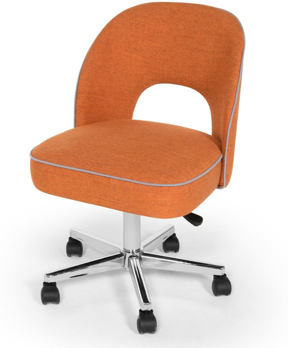Lloyd Office Chair, Marigold Orange and Persian Grey
