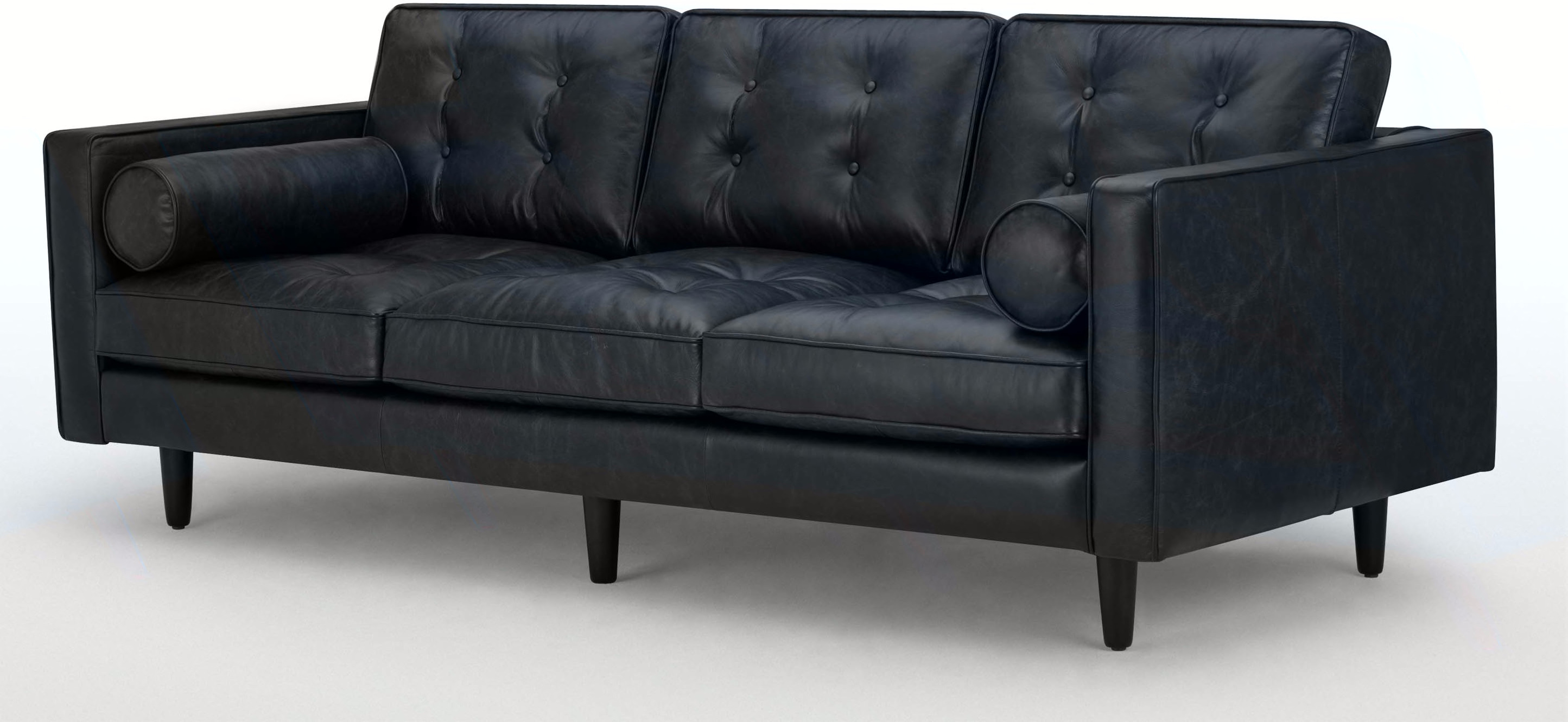 Buy Cheap 3 Seater Black Leather Sofa Compare Sofas