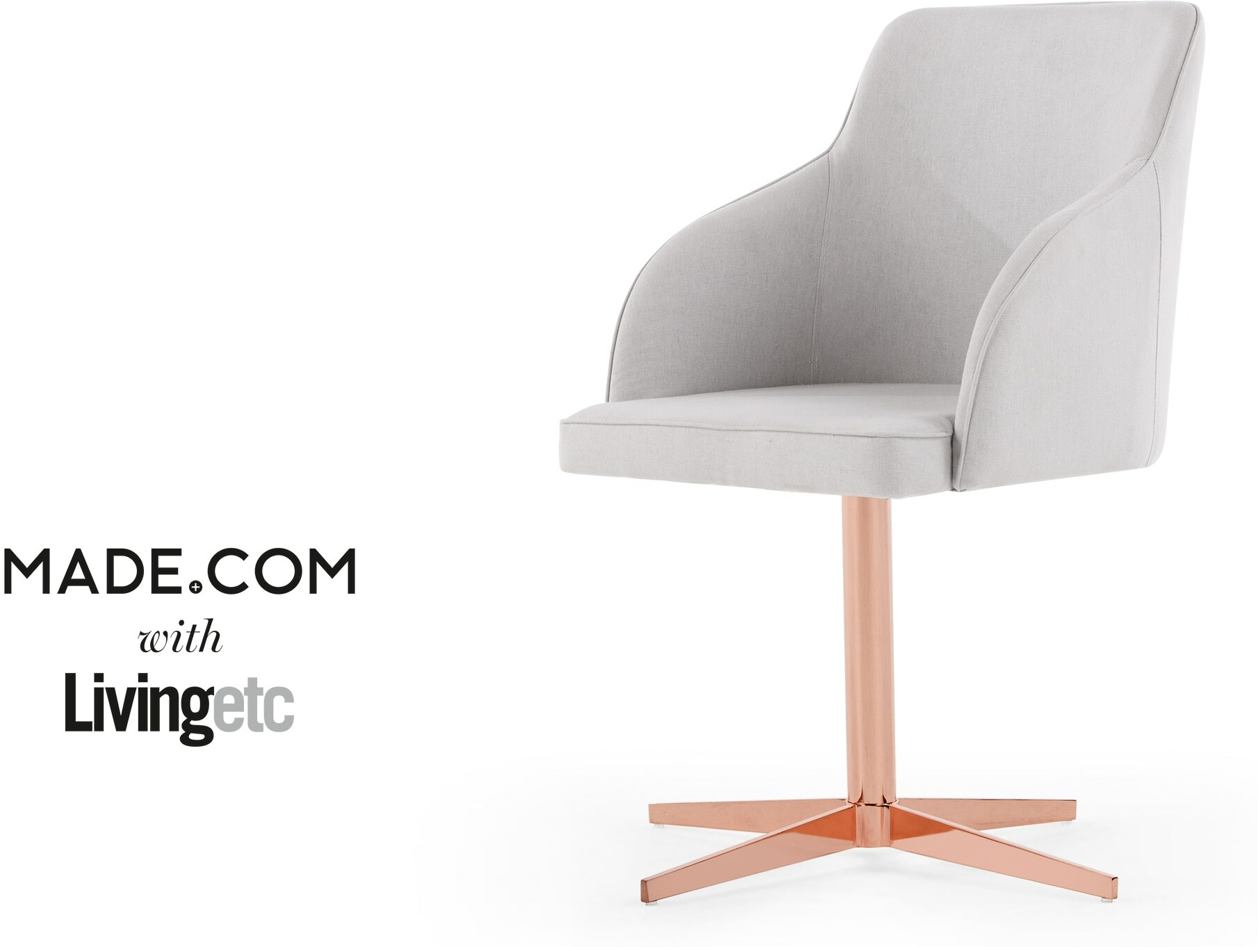 Keira Office Chair Cloud Grey and Copper