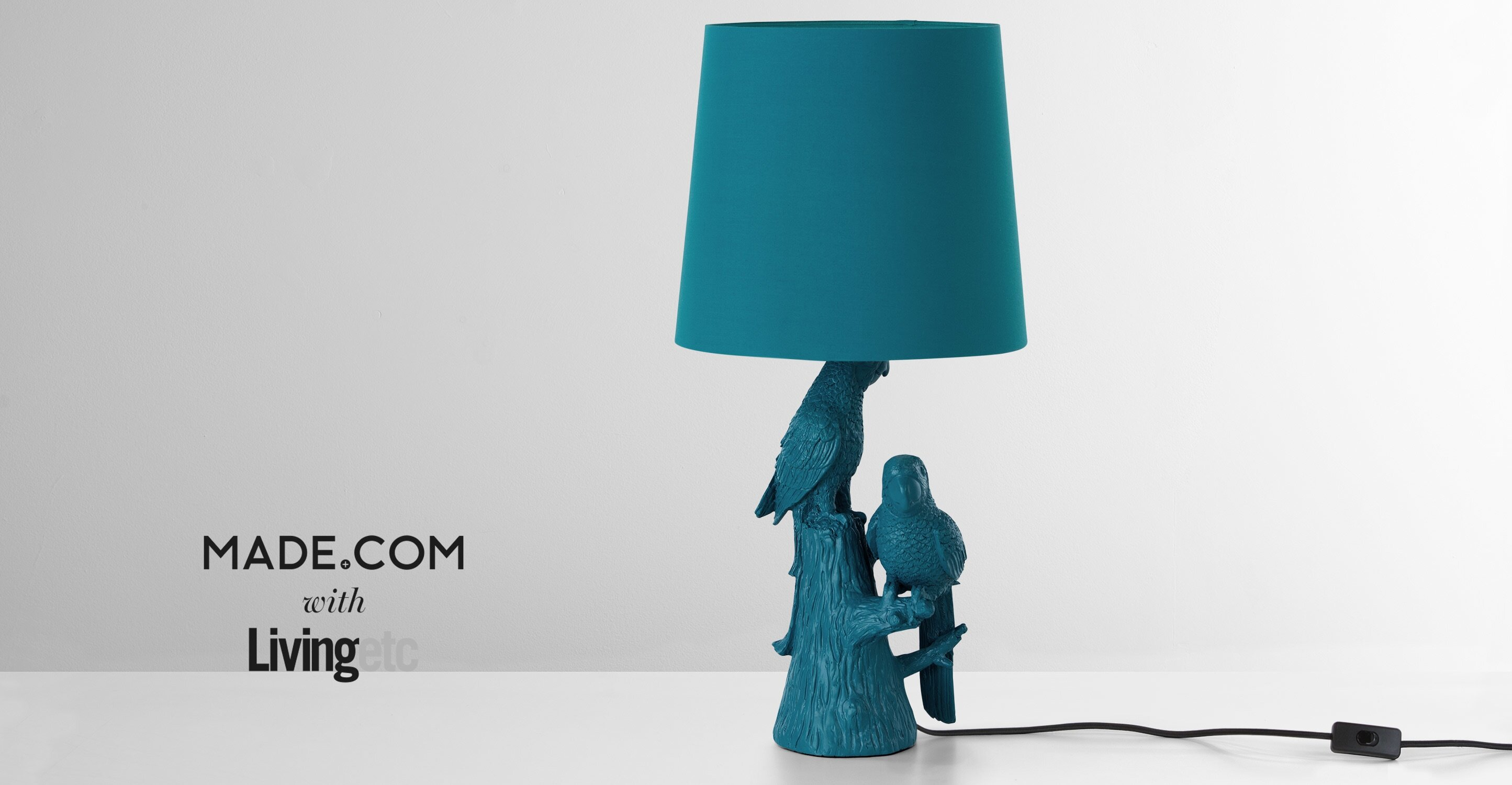 Parrot Table Lamp in Teal