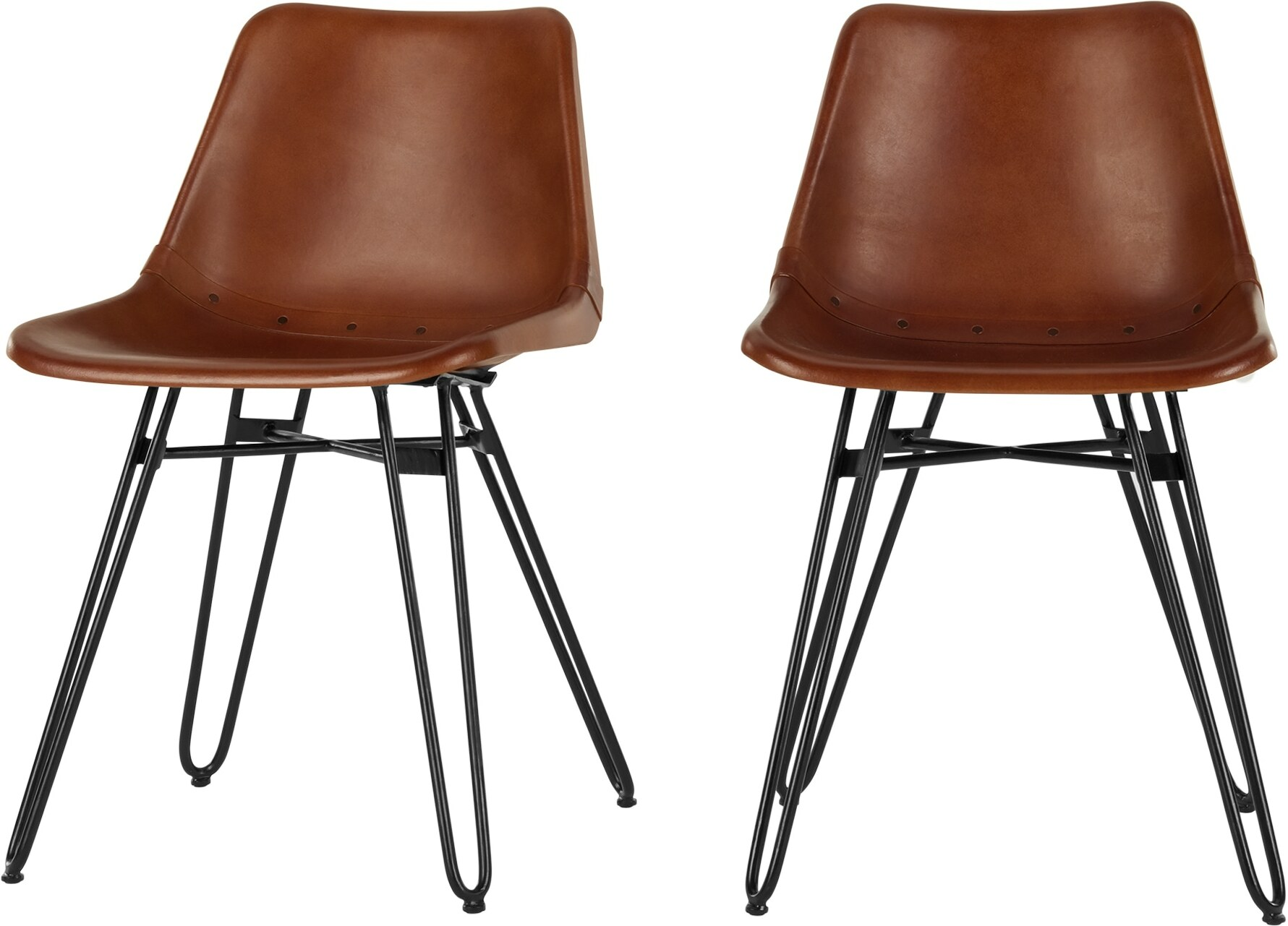 Image of 2 x Kendal Dining Chair, Tan and Black