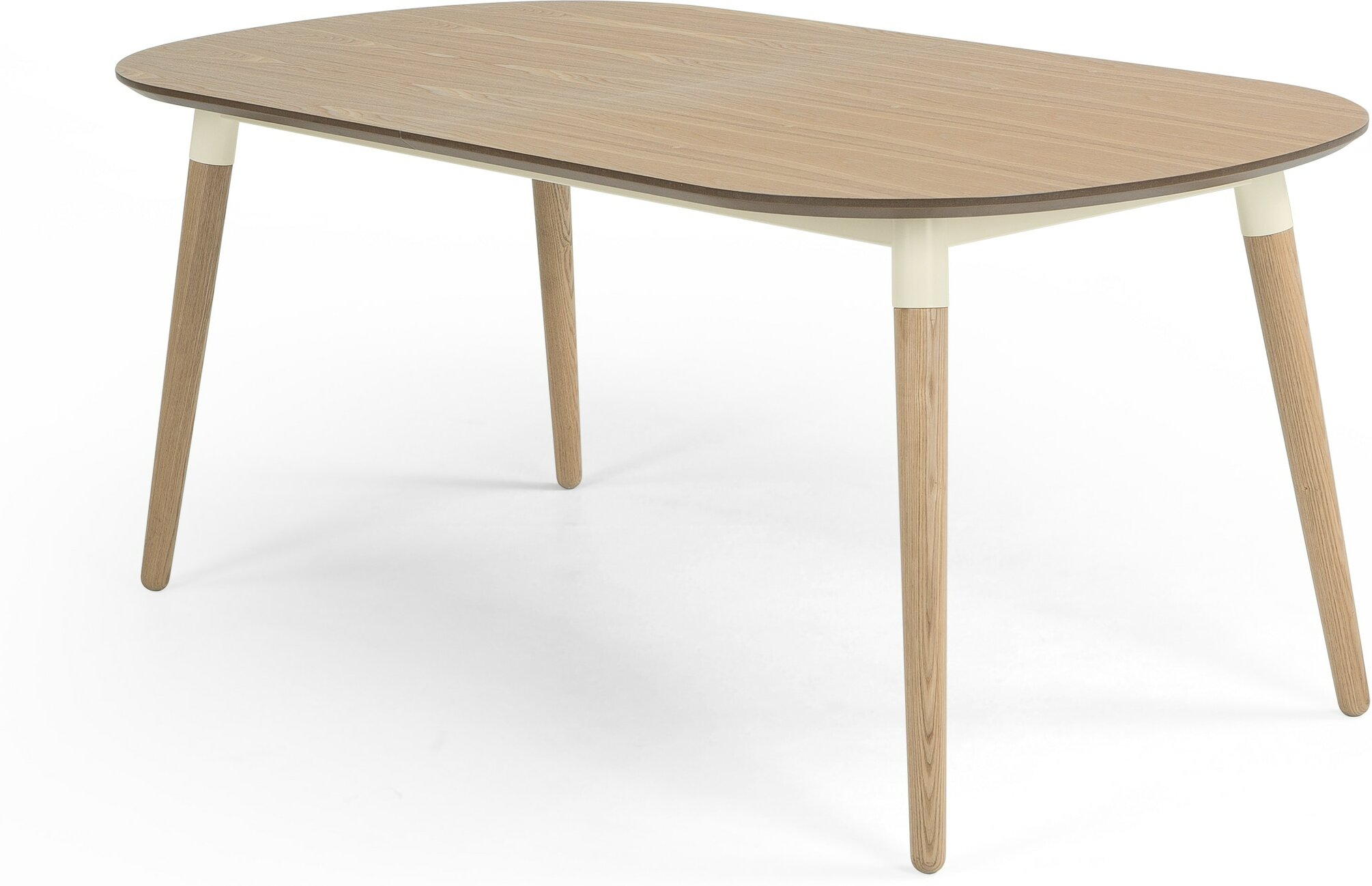 Edelweiss Extending Dining Table Ash and White