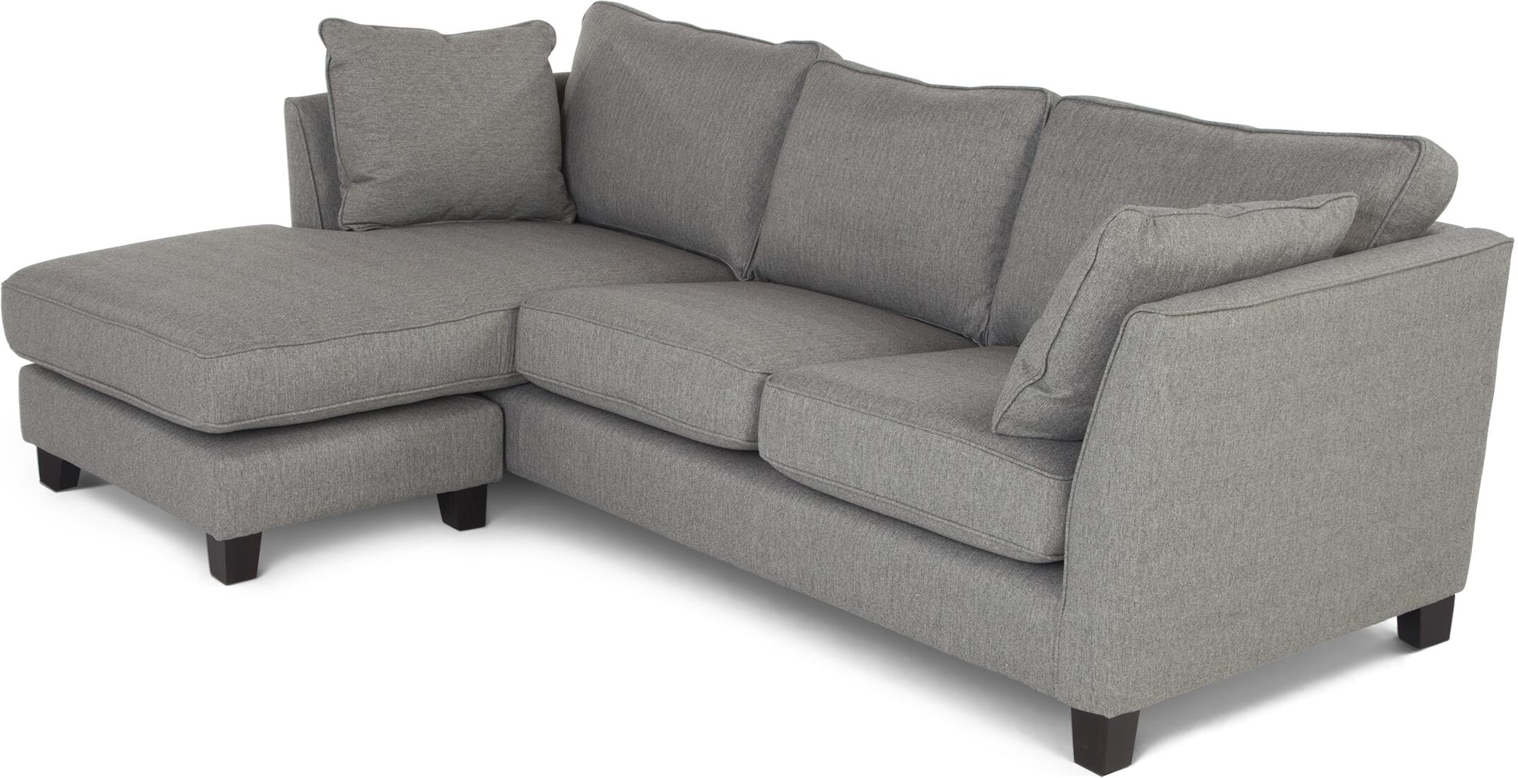 Wolseley Large corner sofa sofa Herringbone Marl Grey