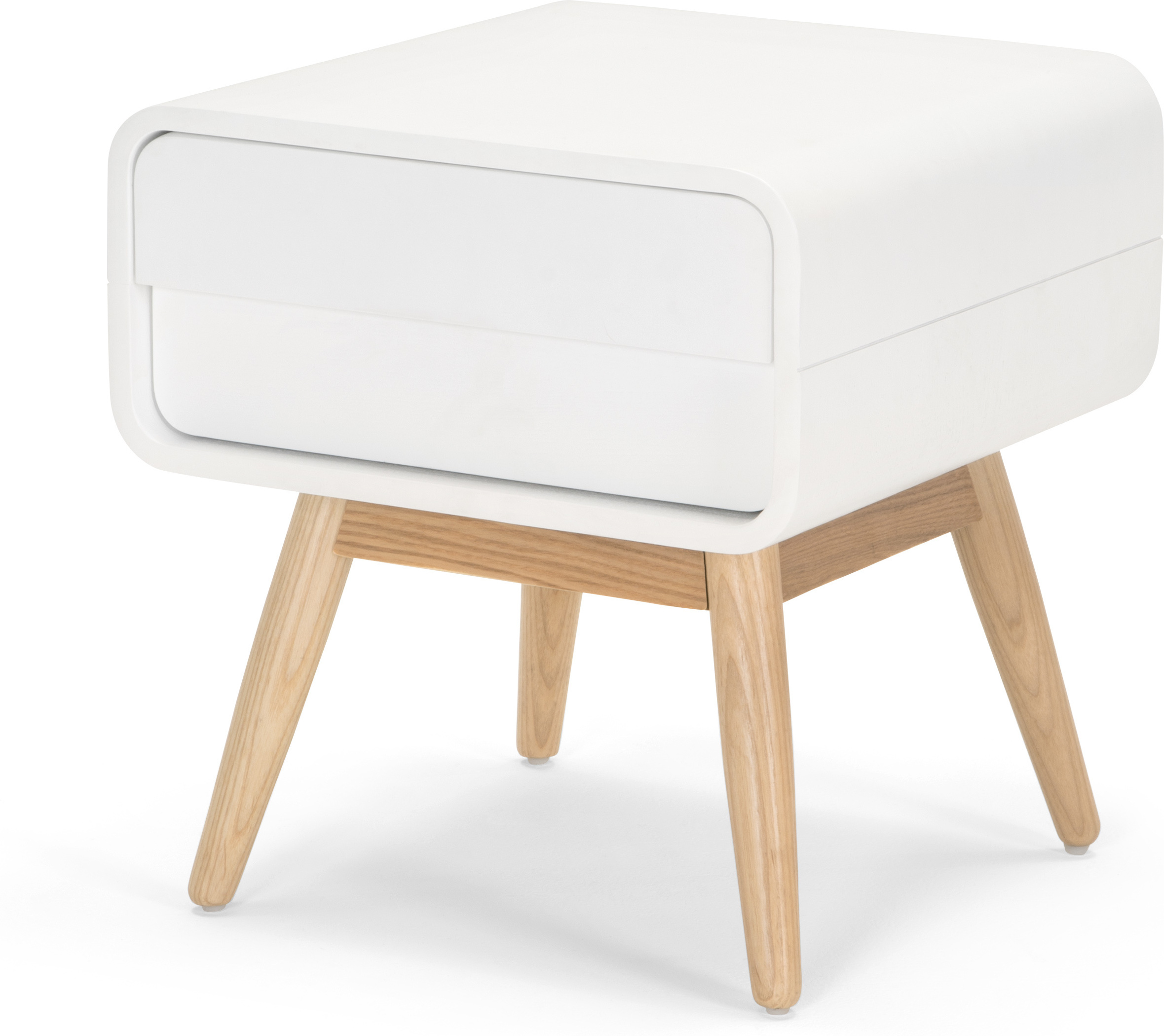 Esme Bedside Table White and Ash