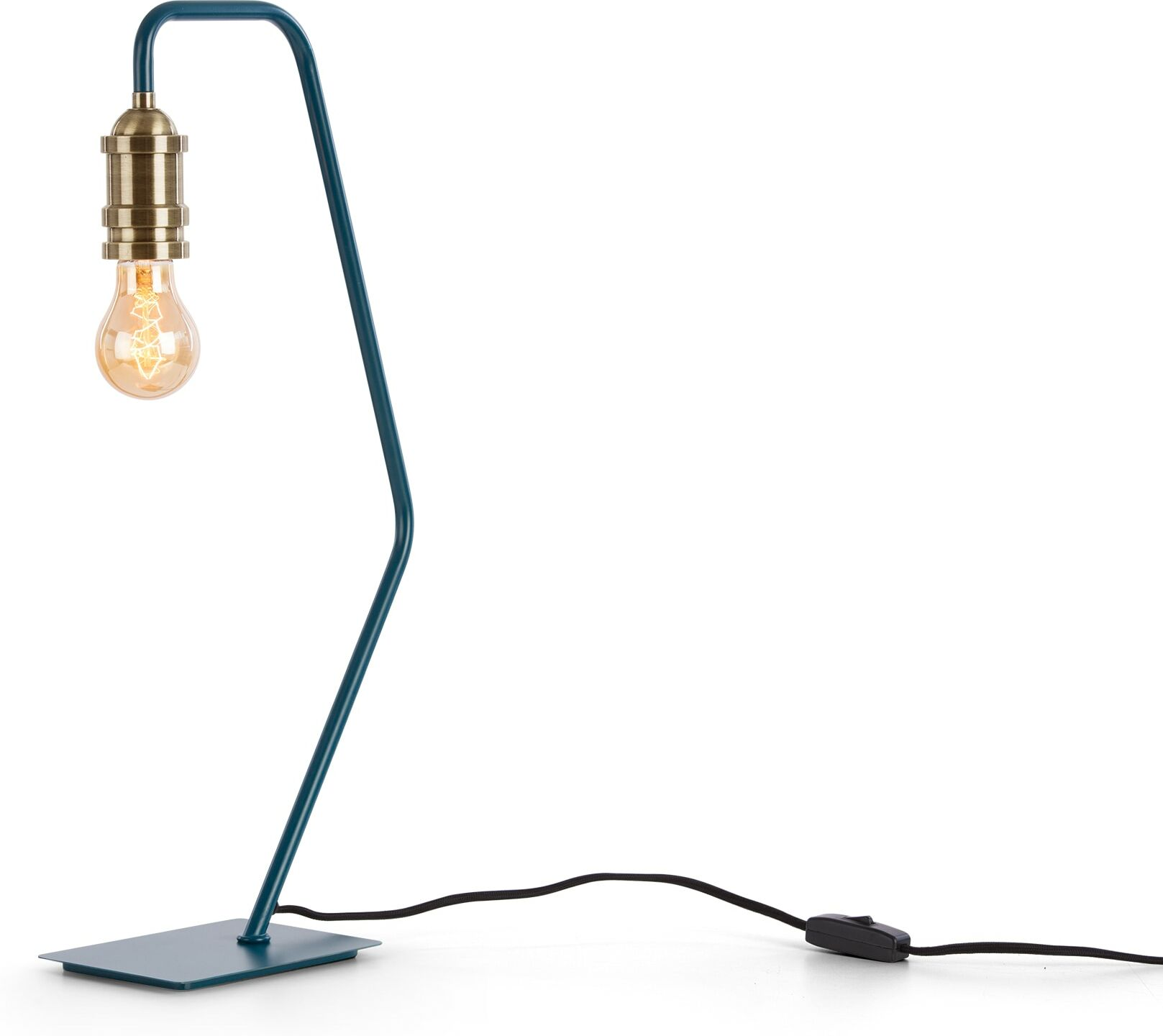 Starkey Table Lamp Teal and Brass