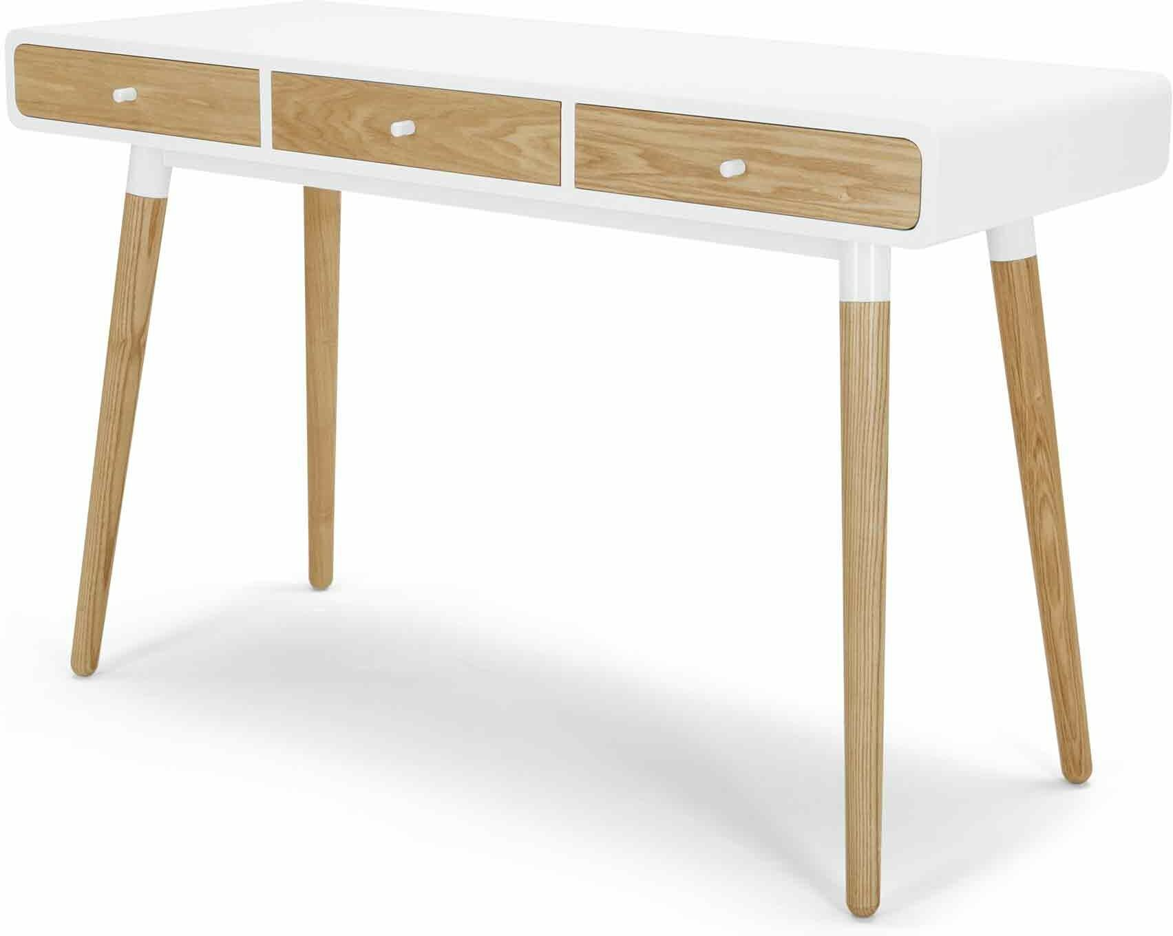 Edelweiss Desk Ash and White