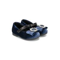 Andrea Montelpare ballerines en velours - Bleu
