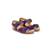 Pèpè sandale splates à noeud - Rose & Violet