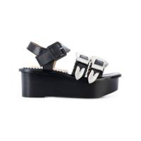 Toga Pulla buckled platform sandals - Noir