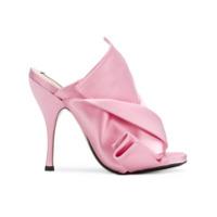 Nº21 open toe bow mules - Rose & Violet