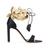 Rupert Sanderson sandales à bride cheville en feuilles - Noir