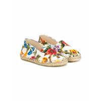 Dolce & Gabbana Kids espadrilles à fleurs - Multicolore