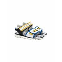 John Galliano Kids sandales à fermeture à scratch - Blanc