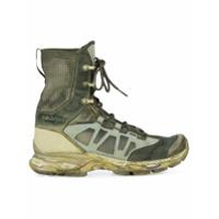 11 By Boris Bidjan Saberi lace-up running boot - Vert