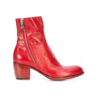 Rocco P. bottines d'inspiration western - Rouge