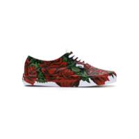 À La Garçonne roses print sneakers - Rouge