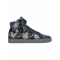 Hogan Rebel baskets montantes e tweed - Bleu