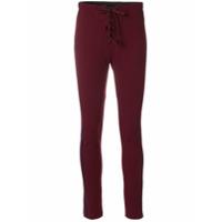 Yeezy Season 5 stripe football leggings - Rouge