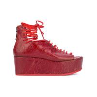 Marsèll sandales à plateforme - Rouge