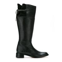 Sarah Chofakian leather lace-up detail boots - Noir