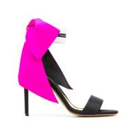 Alexandre Vauthier oversized bow sandals - Noir