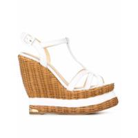 Paloma Barceló sandales  Valerie  à talon compensé - Blanc