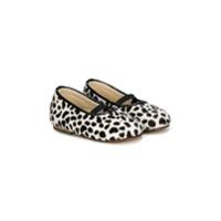 Baby Walker ballerines léopard - Blanc