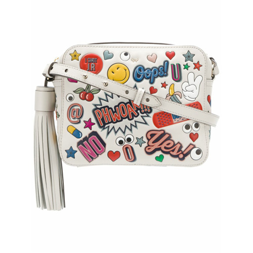 Billede af Anya Hindmarch All Over Stickers cross-body bag - Nude & Neutrals