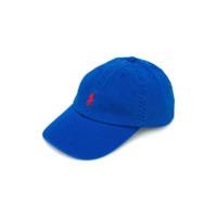 Ralph Lauren Kids logo embroidered cap - Blue
