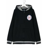 Woolrich Kids baseball print hoodie - Blue