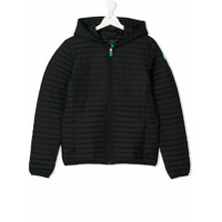 Save The Duck Kids TEEN hooded quilted jacket - Black