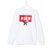 Msgm Kids logo print sweatshirt - White