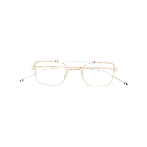 Bild på Thom Browne Eyewear aviator optical sunglasses - Metallic
