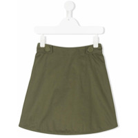 Marni Kids zipped A-line skirt - Green