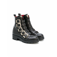 Cesare Paciotti Kids multi buckle boots - Black