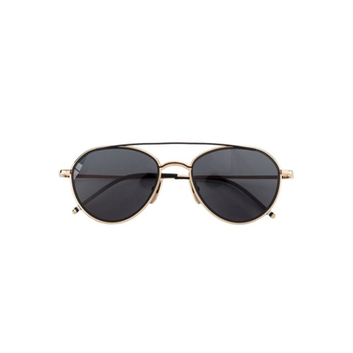 Bild på Thom Browne Eyewear Black Aviator Sunglasses - Unavailable