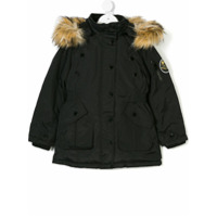 Diesel Kids faux fur hooded jacket - Black