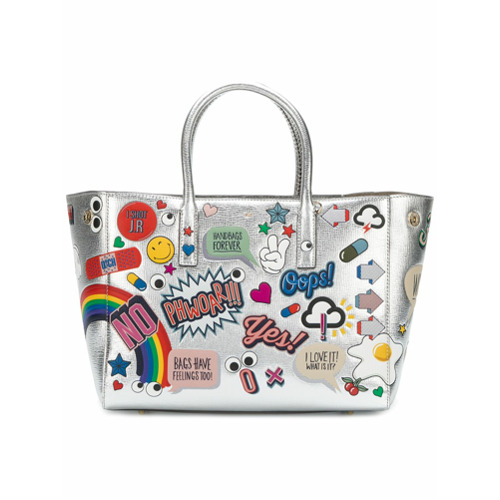 Billede af Anya Hindmarch All Over Stickers Ebury tote - Metallic