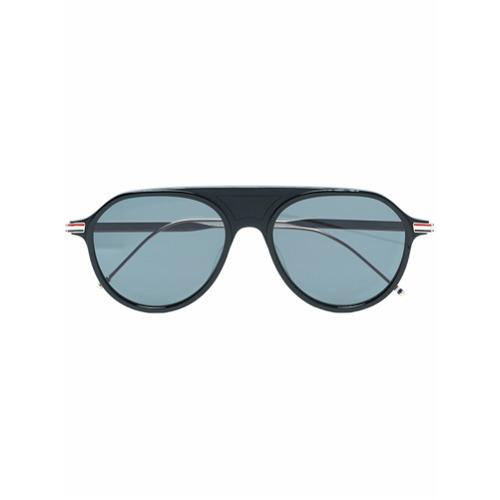 Bild på Thom Browne Eyewear Black Aviator Sunglasses