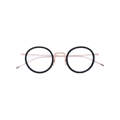 Bild på Thom Browne Eyewear BLACK & GOLD OPTICAL GLASSES WITH CLEAR LENS
