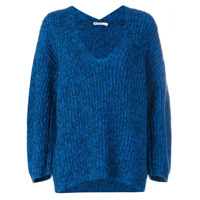 T By Alexander Wang oversized V-neck jumper - Blue